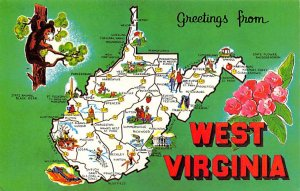 Maps West Virginia USA Unused