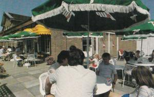 7 Seven Up Fizzy Drink Umbrella Cafe Wicksteed Park Northampton 1970s Postcard