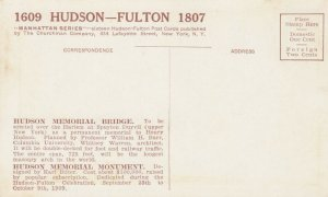 HUDSON-FULTON Celebration, NY, 1909; Hudson Memorial Monument & Bridge
