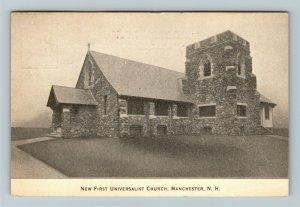 Manchester NH-New Hampshire First Universalist Church, Vintage c1915 Postcard