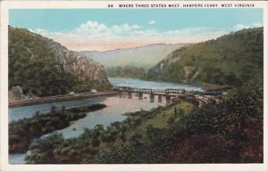 Where Three States Meet Harpers Ferry West Virginia
