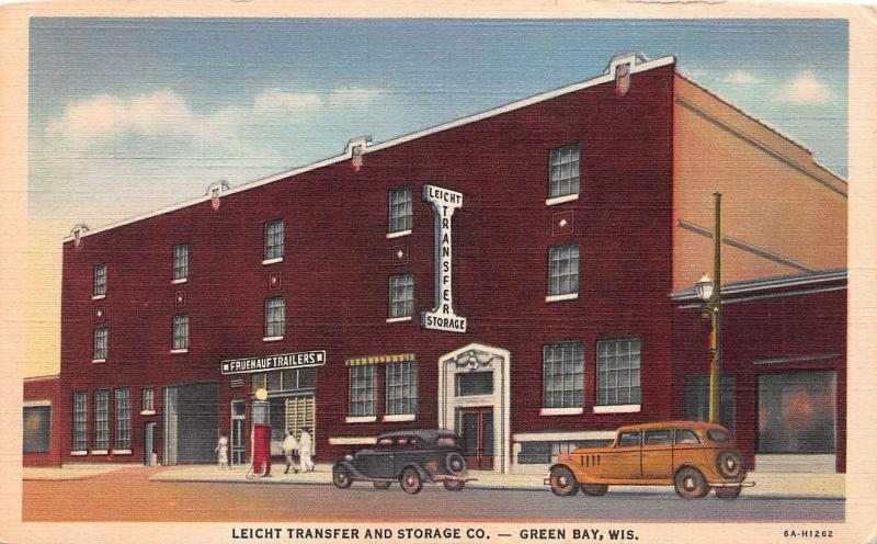 Leicht Transfer and Storage Co., Green Bay, WI, Early Postcard