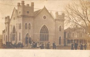 Real Photo Fairbury Church in Nebrasksa Antique Postcard L755