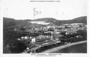 Tadoussac Quebec Canada air view Hotel Tadoussac real photo pc Z19561