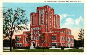 Tennessee Nashville New Library Fisk University 1943 Curteich