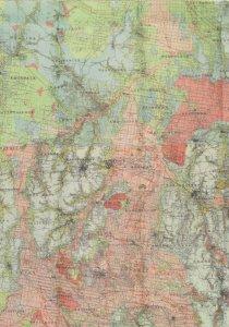 Alluvial Campasce Kyneton Vicrotia Australia Map Postcard