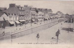 France Saint Nazaire La Rue de Nantes Quartier de la Gare