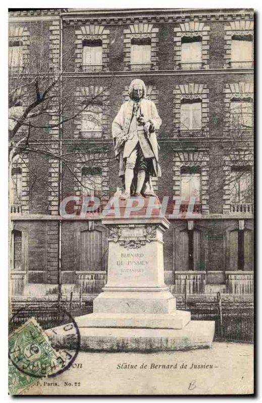 Postcard Old Lyon Statue of Bernard de Jussieu