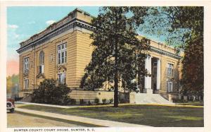 D75/ Sumter South Carolina Postcard c1910 Sumter COunty Court House Building 3