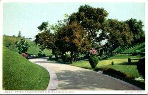 California Pasadena Driveway Busch Sunken Gardens 1910 Detroit Publishing