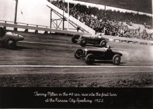 MO - Kansas City Speedway. Tommy Milton, #8 Car, 1922 (5.75 X 4 Photo Reprint)