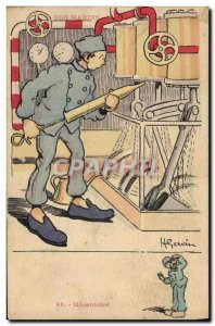Old Postcard Mechanic Gervese Illustrator Our amrisn
