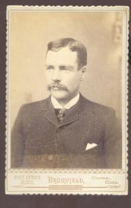 REAL PHOTO CABINET CARD OURAY COLORADO CHRIS BOWMAN MAN IN SUIT 1894