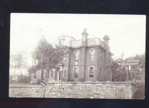 RPPC MISSOURI VALLEY IOWA HIGH SCHOOL BUILDING 1908 VINTAGE REAL PHOTO POSTCARD