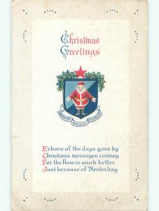 Divided-Back CHRISTMAS - SANTA WITH ORDER OF ST. NICHOLAS BANNER o2938