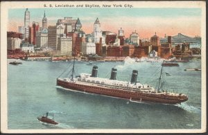 S. S. Leviathan - Post Card - Unused