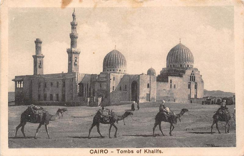 Egypt Cairo Tombs of Khalifs, Khalifa, City of the Dead, Camels