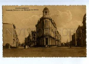 203278 BRAZIL PERNAMBUCO Marques de Olinda street Vintage RPPC