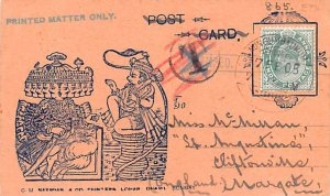 India 1905 Stamp on front