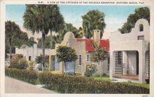Florida Daytona Beach A Few Of The Cottages At The Osceola Gramatan