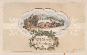 A Merry CHRISTMAS , Woven silk Ribbon , 1913 ; John Winsch