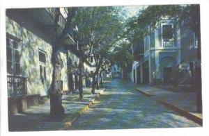 Typical Street Scene, Leading to Fortaleza, San Juan, Puerto Rico, 40-60s