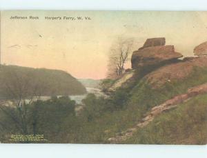 Divided-Back RUSTIC SCENE Harpers Ferry West Virginia WV hk4156