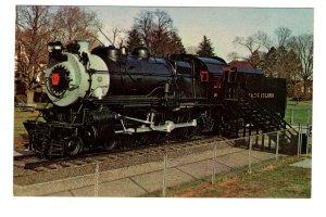 Long Island Railway Train, Steam Locomotive, East Meadow, New York 1970