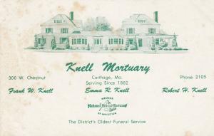 CARTHAGE , Missouri , 40-50s ; Knell MORTUARY