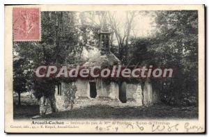Postcard Old Arcueil Cachan Interior Du Parc De Provigny Ruins I'Ermitage