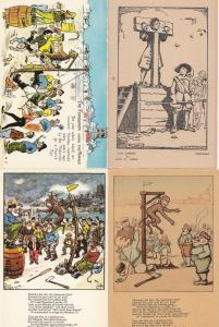 Fishermen Hanging The Monkey Execution Death Sentence Hands Cut Off 4x Postcard