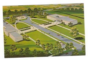 Kansas Abilene Eisenhower Center Aerial View Vntg Postcard