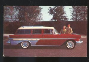 1957 PONTIAC STAR CHIEF STATION WAGON OMAHA NEBRASKA ADVERTISING POSTCARD