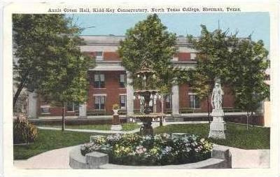 Annie Green Hall, Kidd-Key Conservatory, North Texas College, Sherman, Texas,...