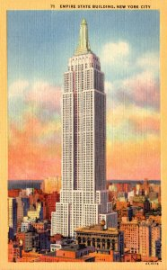 New York City Empire State Building Curteich