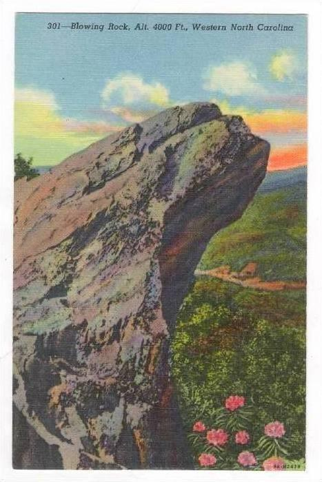 Blowing Rock, Alt. 4000 Ft. Western North Carolina, 1930-1940s