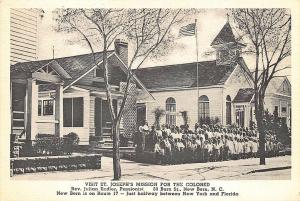 New Bern NC St Joseph's Mission For The Colored Albertype Postcard