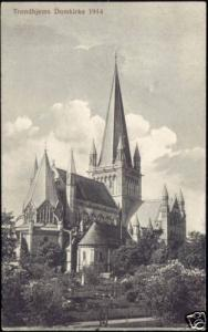 norway norge, TRONDHJEM, Domkirke, Church (1914)
