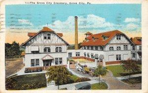 H37/ Grove City Pennsylvania Postcard 1924 Grove City Creamery Delivery Wagon