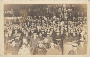RP: USS TENNESSEE , 00-10s ; Crowd at Minstrel Show aboard ship