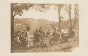 RP: THELFORD CENTER , Vermont, 1900-10s ; Band Playing