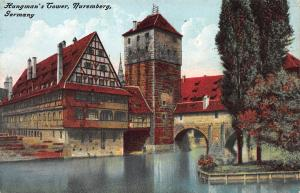 Hangman's Tower, Nuremberg, Germany, Early Postcard, Unused