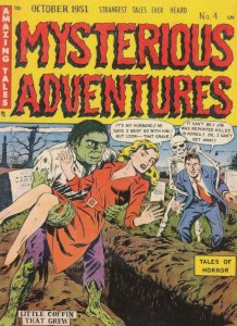Mysterious Adventures Buried Alive Comic Skeleton Grim Reaper Postcard