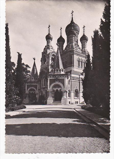 France Nice L'Eglise Russe Vue generale exterieure