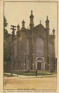 GRAND RAPIDS, Michigan, PU-1909; Methodist Episcopal Church, Foutain And Divi...