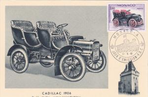 Monaco ; Maximum postcard , PU-1961 Cadillac Car