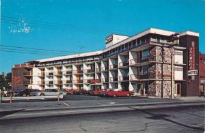 Exterior View, Classic Cars Parked Outside the Baywood Motor Hotel, North Bay...