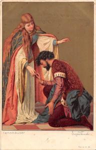 Kuenstlerkarte Tannhaeuser, Eugen Klimsch, Artistic