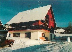 Germany pension waltraud schlegel winter snow   Postcard