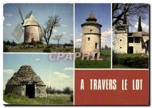 Postcard Travers Old Mill Lot Cieurac Pigeonnier takeoff Lantemeau Lalbenque ...
